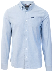 Superdry Ticking Stripe Blue Classic University Oxford Shirt