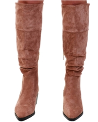Una Healy Tan Knee High Suede Boot