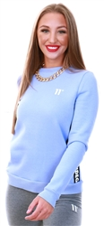 11degrees Novel Lilac Taped Crew Neck Sweatshirt