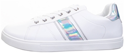 Krush White Silver Lace Up Trainer