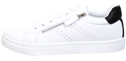Krush White / Black Lace Up Trainer