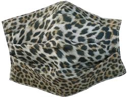 Brave Soul Cheetah Print Fashion Woven Mask