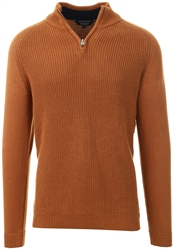 Kensington Rubber Brown Kinkle Knit Jumper