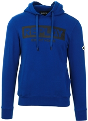 Replay Electric Blue Chest Print Hoody
