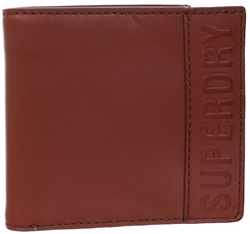 Superdry Tan Vermont Bifold Leather Wallet
