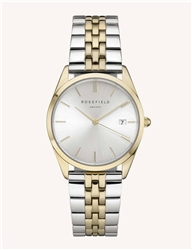 Rosefield The Ace Silver Sunray Silver Gold 33mm
