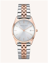 Rosefield The Ace Silver Sunray Silver Rose Gold 33mm