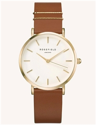 Rosefield The West Village Cognac Gold 33mm