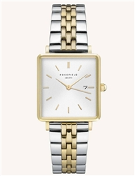 Rosefield The Boxy White Silver Gold Duo 33mm