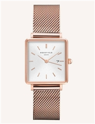 Rosefield The Boxy White Rose Gold 33mm