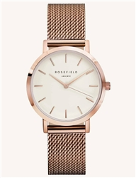 Rosefield The Tribeca White Rose Gold 33mm