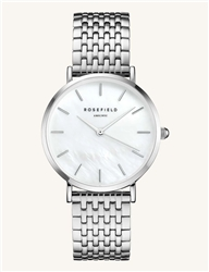 Rosefield The Upper East Side White Silver 33mm