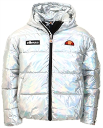 Ellesse Silver Junior Holographic Zip Up Coat