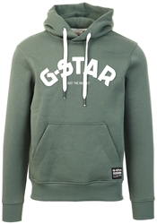 Gstar Jungle Green Varsity Felt Hooded Sweater
