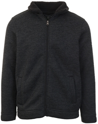 Kensington Charcoal Funnel Neck Zip Up Jacket