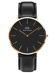 Daniel Wellington Black Rose Gold Classic Sheffield 40mm
