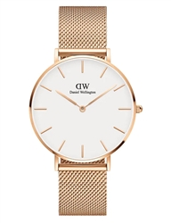 Daniel Wellington Rose Gold White Petite Melrose 36mm