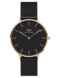 Daniel Wellington Black Rose Gold Petite Ashfield 36mm