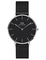 Daniel Wellington Black Silver Petite Ashfield 36mm