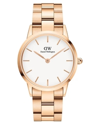 Daniel Wellington Rose Gold White Iconic Link 36mm
