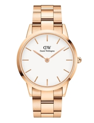 Daniel Wellington Rose Gold White Iconic Link 40mm