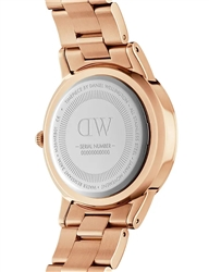 Daniel Wellington Rose Gold Black Iconic Link 40mm