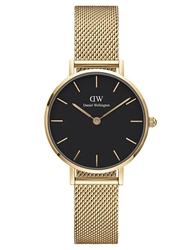 Daniel Wellington Gold Black Petite Evergold 28mm