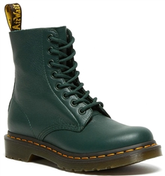 Dr Martens Green 1460 Smooth Leather Ankle Boots