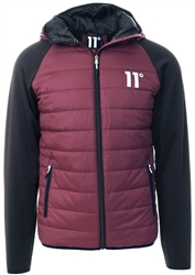 11degrees Burgandy / Black Neoprene Hybrid Jacket
