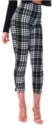 Cutie London Black/White Dogtooth Leggins