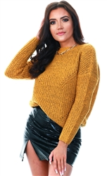 Only Golden Glow Loose Knitted Pullover