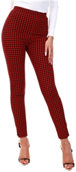 Red/Black Pattern Leggins by Cutie London