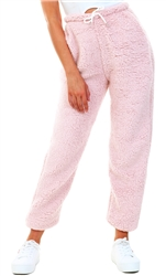 Vivichi Light Pink Grace Teddy Bear Borg Joggers