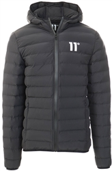 11degrees Black Space Puffer Jacket