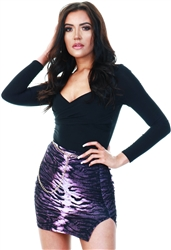 Cutie London Purple Snake Print Skirt