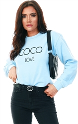 Missi Lond Blue Coco Love Sweater