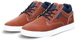 Lloyd & Pryce Tuscan Tan Panel Lace Up Trainer