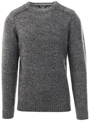 Kensington Charcoal Black Twist Crew Neck Knitted Jumper