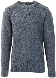 Kensington Grey Moonlight Twist Crew Neck Knitted Jumper