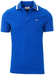 Providence Blue Classics Tipped Collar Slim Fit Polo by Tommy Jeans