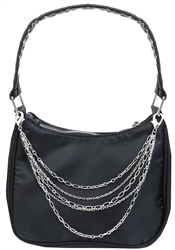 Impulse Black/Silver Mini Handbag