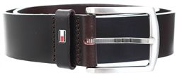 Tommy Jeans Testa Di Moro Denton Flag Logo Leather Belt