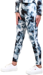 Cutie London Black/White Tie Dye Jogger