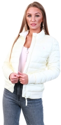 Jack Wills Vintage White Luna Puffer Jacket
