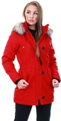 Only Red / Chili Pepper Long Parka