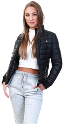 Black Luna Puffer Jacket by Jack Wills