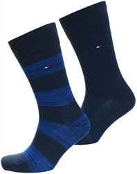 Tommy Jeans Navy/Blue 2-Pack Stretch Cotton Rugby Socks