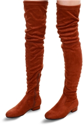 Krush Mocha Suede Thigh High Boot