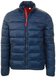 Jack Wills Navy / Red Kershaw Puffer Jacket