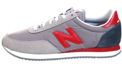New Balance Team Away Grey With White And Burgundy 720 Lace Trainer